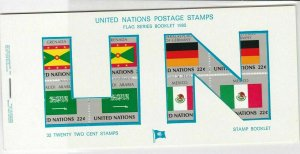 United Nations Mint Never Hinged Flags Stamps Booklet ref R 18467