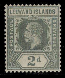 LEEWARD ISLANDS SG49, 2d slate grey, LH MINT.