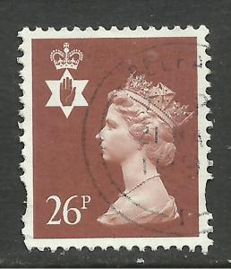 Northern Ireland GB 1997 QE2 26p Chestnut Machin used SG NI 81 ( E380 )