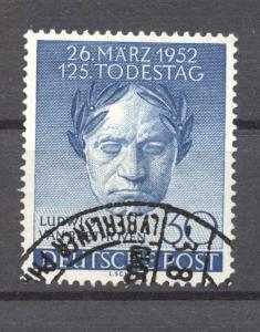 Berlin, 1952,Beethoven, VF ++ used, no faults, Mi. # 87