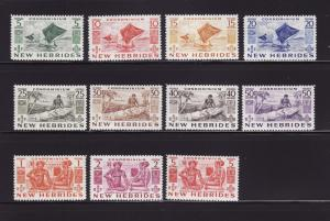 New Hebrides, British 66-76 Set MNH Various