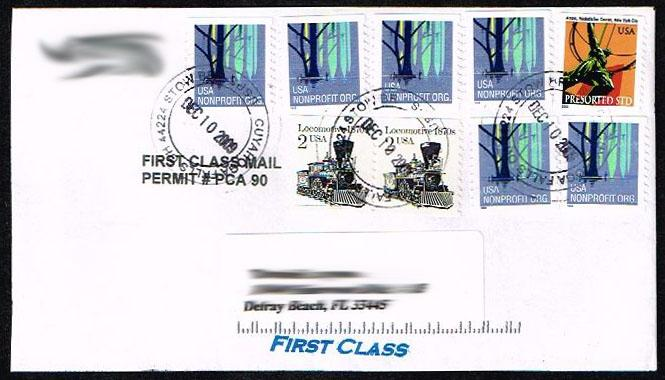 US Precancel Stamps on Cover- First Class Usage
