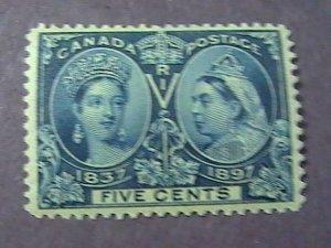 CANADA # 54--MINT/HINGED-----DEEP BLUE-----VICTORIA----1897(#1)