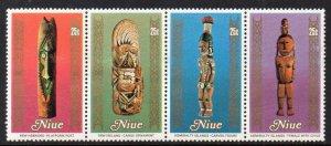 Niue MNH Strip 266 South Pacific Arts 1980