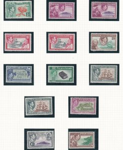 PITCAIRN ISLANDS  1940 - 51  S G 1 - 8  SET OF 10 + SHADES MH
