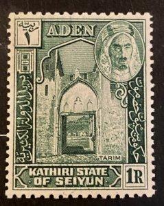 Aden Scott 9 State of Seiyun 1 Rupee-Mint NH