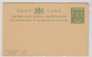 British East Africa QV Postal Stationery 1/2 Anna J4832