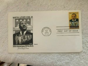Scott 1771. US Stamps. 15 Cent, Martin Luther King Jr. FDC.