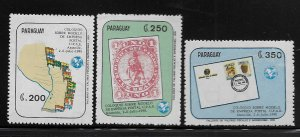 PARAGUAY, 2330-2332  MNH, POSTAL UNION OF AMERICA AND SPAIN