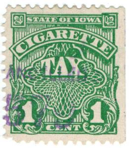 (I.B) US Revenue : Cigarette Tax 1c (Iowa)