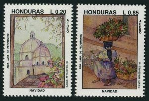 Honduras C912-C913, MNH. Mi 1226-1227. Christmas 1993. Aida Lara de Pedemonte.