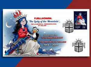 Iceland's Mountain Lady 'Fjallkonan' Celebrates 75 Years of  Independence on FDC