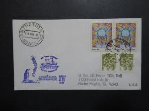 Brazil 1986 Prof. W. Besnard Antarctica Expedition Cover  - Z8772