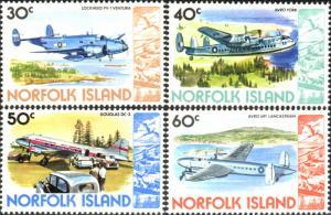 Norfolk Island 1980 SG244-247 Airplanes MNH