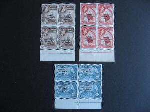 Ghana Sc 25-7 MNH imprint plate blocks