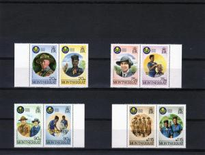 Montserrat 1986 Girl Guides 50th.Ann Set 4pairs Specimen