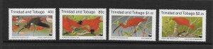 BIRDS - TRINIDAD & TOBAGO #505-8 WWF  SCARLET IBIS   MNH