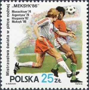 Poland 1986 MNH Stamps Scott 2728 Sport Football Soccer World Cup Championship