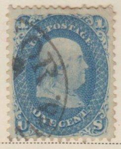 U.S. Scott #63 Franklin Stamp - Used Set of 2