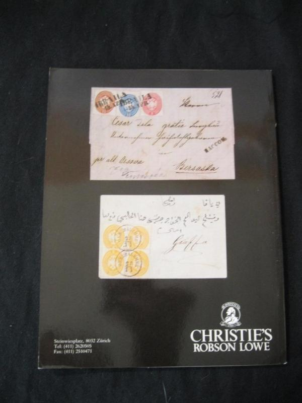 CHRISTIES LOWE AUCTION CATALOGUE 1992 AUSTRIAN POST OFFICES IN LEVANT 'HOUSER'