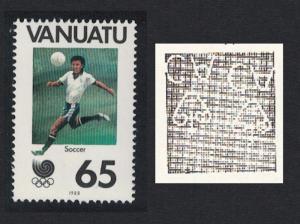 Vanuatu Football Olympic Games Seoul 1v 20vatu Watermark Inverted SG#505w