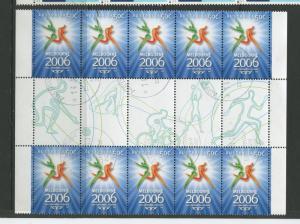 Australia - Scott 2452 - Melbourne 2006 Issue -2006-VFU - Gutter Strip-10 Stamps