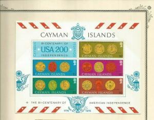 CAYMAN ISLANDS 1976 SCOTT 376A MNH