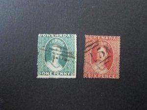 Grenada 1861 Sc 1,2 FU