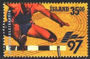Iceland. 1997. 870 from the series. Running hurdles. USED.