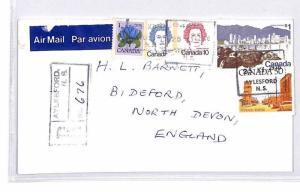BQ301 1978 Canada Devon Great Britain Airmail Cover {samwells}PTS