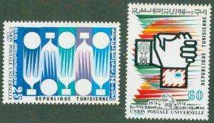 TUNISIA 635-36 MH BIN$ 1.15