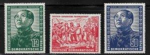 Germany DDR - Scott #82-84 - F - VF - Mint Never Hinged (NH)