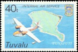 Tuvalu #118-121, Complete Set(4), 1979, Airplanes, Never Hinged