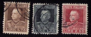 ITALY SCOTT #193-195 (THREE STAMPS TOTAL) USED F-VF