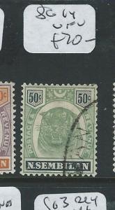 MALAYA NEGRI SEMBILAN (P0610B) 50C TIGER  SG 14  VFU
