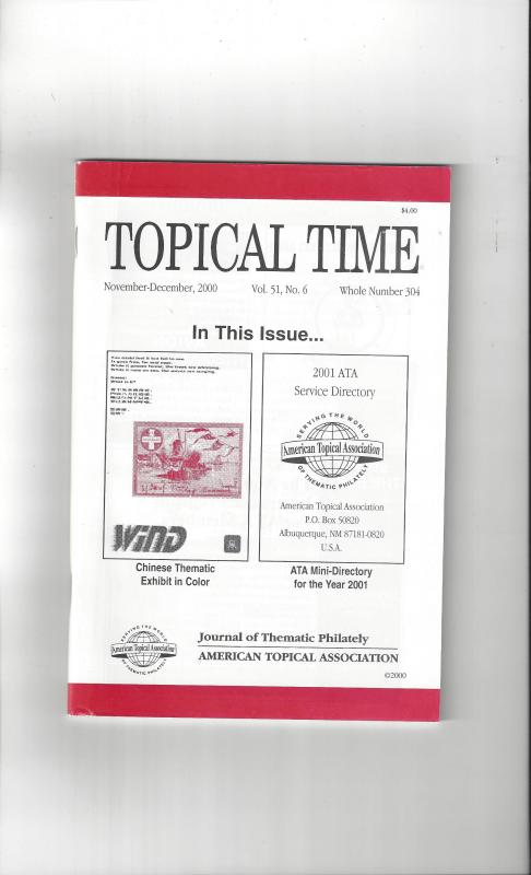 Topical Time Magazine NOV-DEC 2000  Number 304, ATA Journal