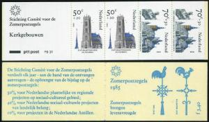 Netherlands B614a booklet,MNH.Mi MH 32. Religious architecture,1985.Synagogue,