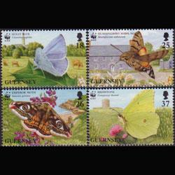 GUERNSEY 1997 - Scott# 586-9 Butterflies Set of 4 NH