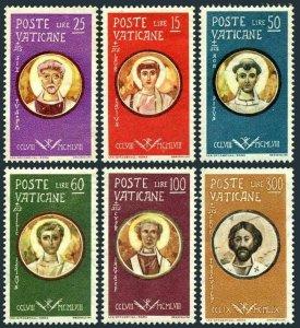 Vatican 256-261,MNH.Michel 307-312. Portraits of Saints,1959.Pope Sixtus II,