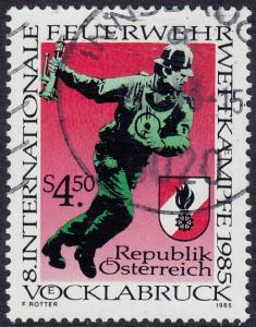 Austria - 1985 - Scott #1321 - used - Fire Brigades Competition