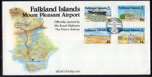 Falkland Islands 425-428 Airport U/A FDC