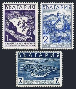 Bulgaria 301-303,MNH.Michel 304-306.Geographical & Ethnographical Congress,1936.