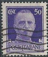 Italy 221 (used) 50c Victor Emmanuel III, purple (1929)