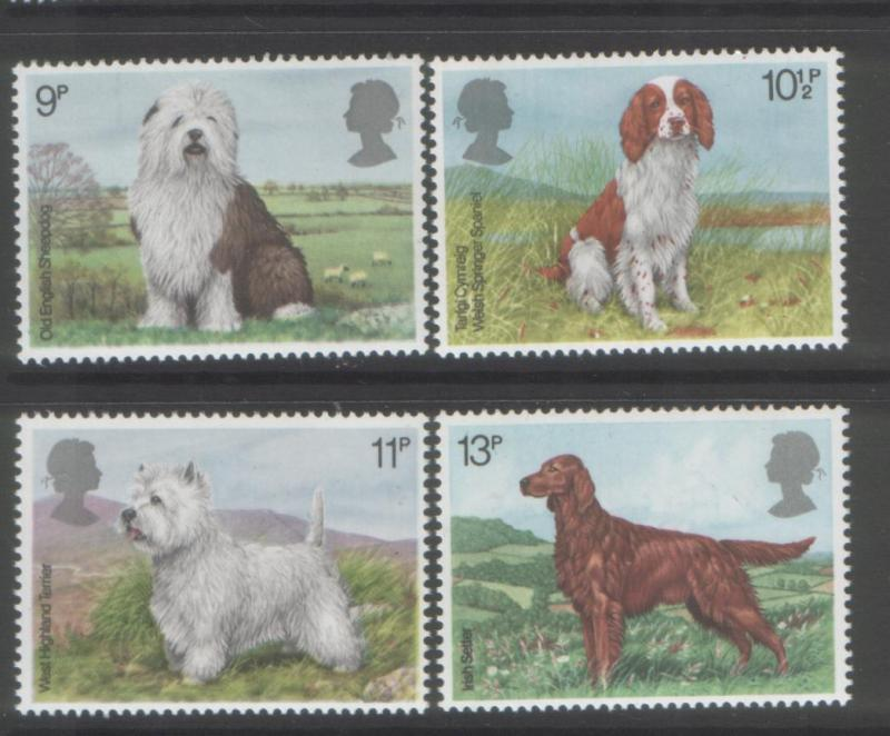 Great Britain 1979 Dogs (4) Scott #851-854