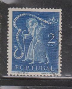PORTUGAL Scott # 725 - Used - 1950 St. John Of God Helping Man