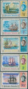 Pitcairn Islands 1967 SG64-68 Discovery ships set MNH