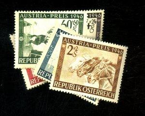 AUSTRIA #B179-183 MINT F-VF OG LH Cat $12
