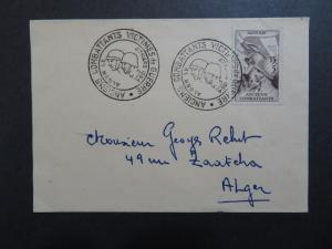 Algeria 1954 WWII Combat Victims Issue FDC  - Z8492