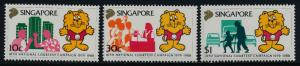 Singapore 532-4 MNH Courtesy Campaign, Singa the Lion, Car