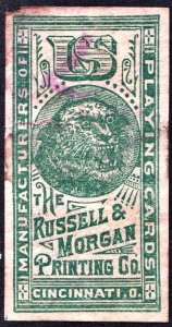 Russell & Morgan Playing Card Stamp